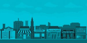 Small Town Shops Illustration for BEE Local